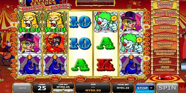 Captain Cannon's Circus Slots