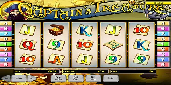 Captain's Treasure Slots