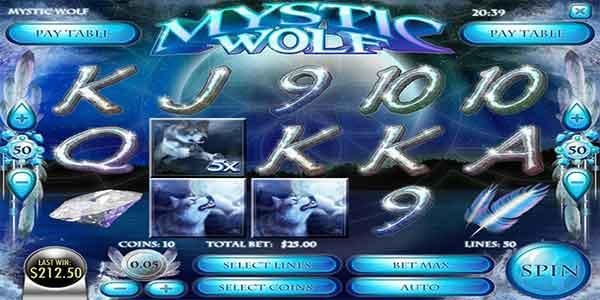 Mesin Slot Mystic Wolf