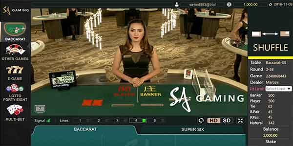 SA Gaming Live Dealer