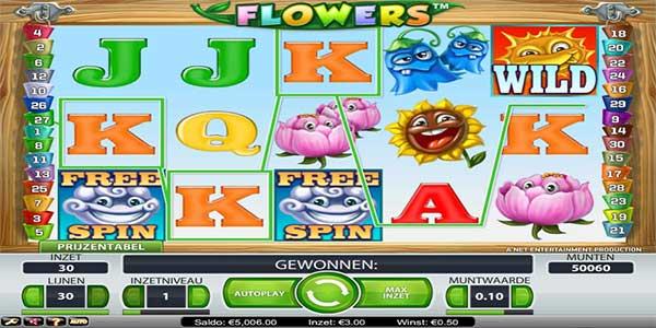 Dunia Berwarni-wani dengan permainan slot NetEnt, Flowers