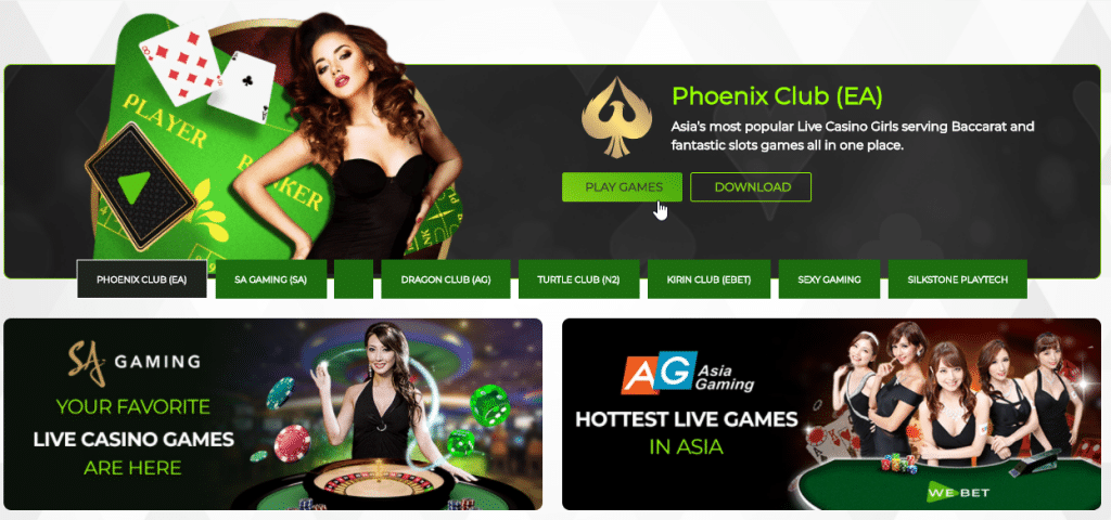 webet live casino